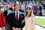 Патрик Дж. Адамс сженой Тройан Баллисарио насвадьбе принца Гарри и Меган Маркл вВиндзоре, 19 мая 2018 года