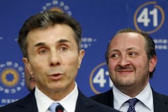 Бидзина Иванишвили и Георгий Маргвелашвили на пресс-конференции в Тбилиси