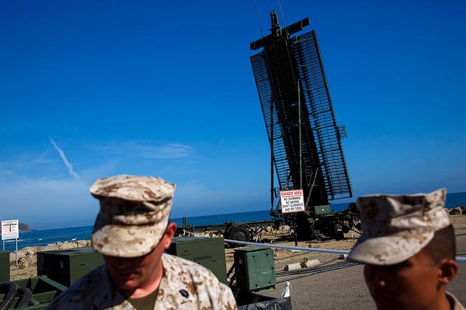 Радиолокационная станция AN/TPS-59 на военно-морской базе Вентура-Каунти в США