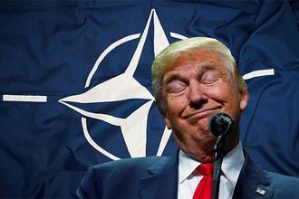 Дональд Трамп подписал протокол о присоединении Черногории к Организации Североатлантического договора несмотря на то, что в ходе своей предвыборной кампании не раз высказывался о НАТО и роли США в союзе в скептическом и негативном ключе, 10 апреля 2017 года