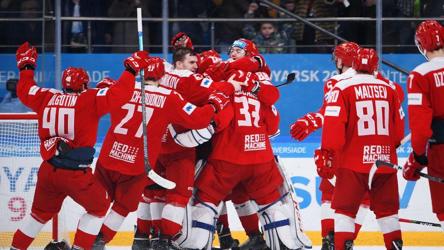 Сборная России по хоккею обыграла Словакию и выиграла Универсиаду