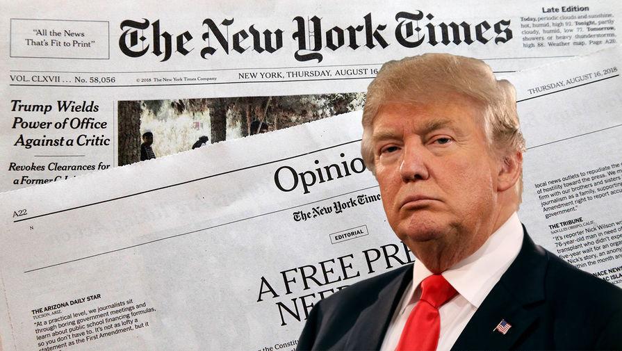 Предвыборный штаб Трампа подал иск к The New York Times за клевету