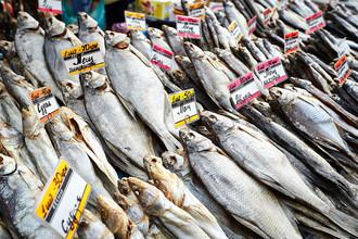 На знаменитом Одесском привозе всегда много рыбы