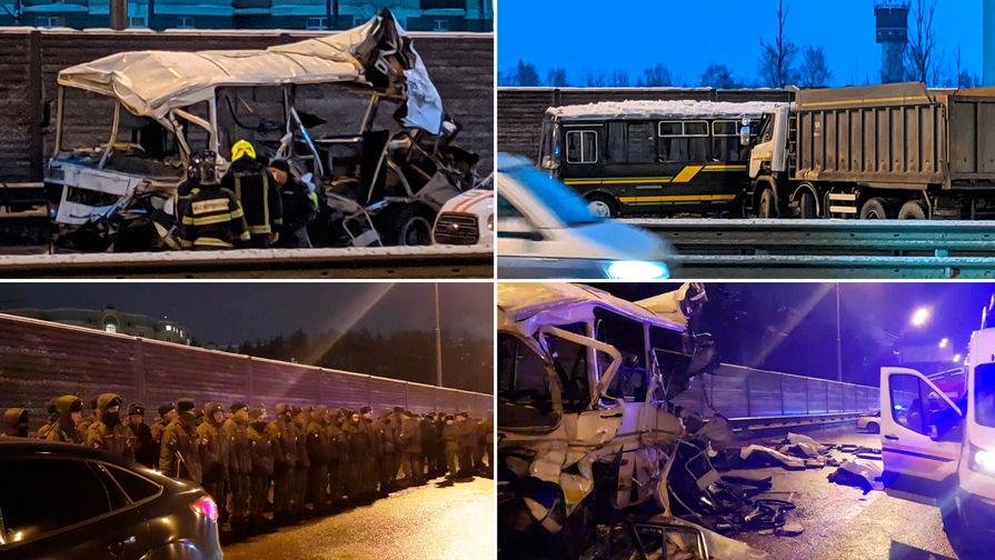 По факту ДТП с военными автобусами в Подмосковье завели уголовное дело