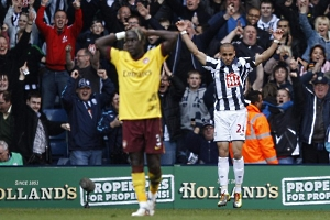 Питер Одемвинги забил в ворота «Арсенала» два гола в сезоне