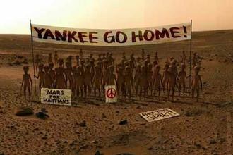 «Акция протеста» «марсиан» против высадки марсоходов