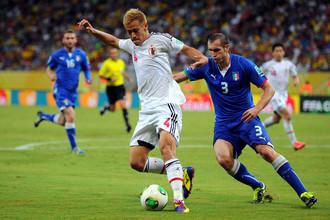 Несмотря на все усилия Кейсуке Хонды, сборная Японии осталась за бортом плей-офф Кубка Конфедераций