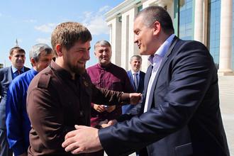 Рамзан Кадыров и Сергей Аксенов