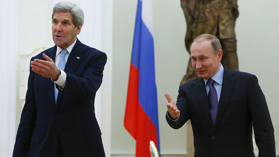 В Госдепе рассказали, о чем говорили Путин и Керри