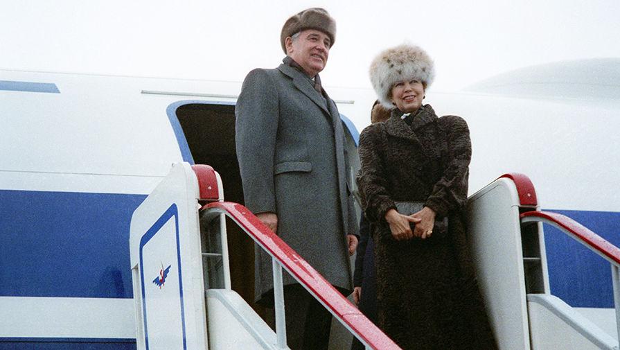 Отбытие Михаила Горбачева с супругой в США для участия в 43-й сессии Генеральной Ассамблеи ООН, 1988 год