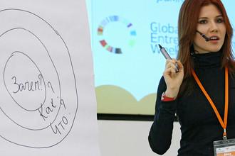 Анна Чапман на форуме в казанском IT-парке, 2011 год