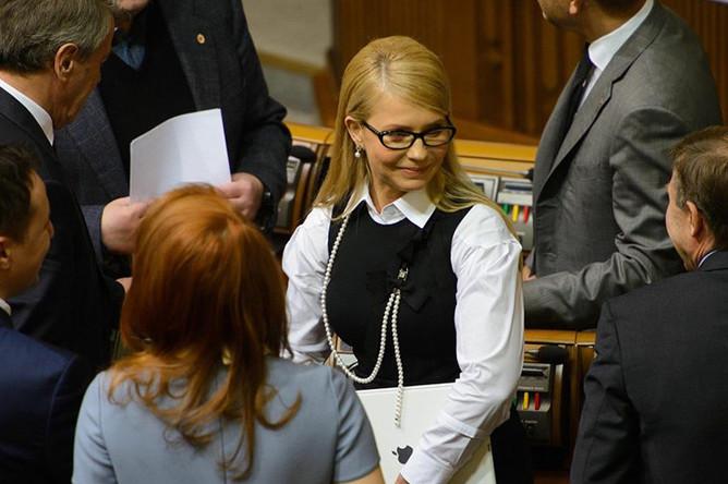 Юлия Тимошенко в Верховной раде, 16 февраля 2016 года