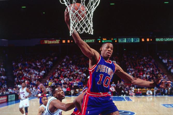 Игрок команды Детройт «Пистонс» Деннис Родман, 1989 год