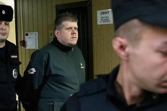 Лидер религиозной секты Андрей Попов («бог Кузя») во время рассмотрения по существу уголовного дела в Пресненском суде, 18 декабря 2017 года