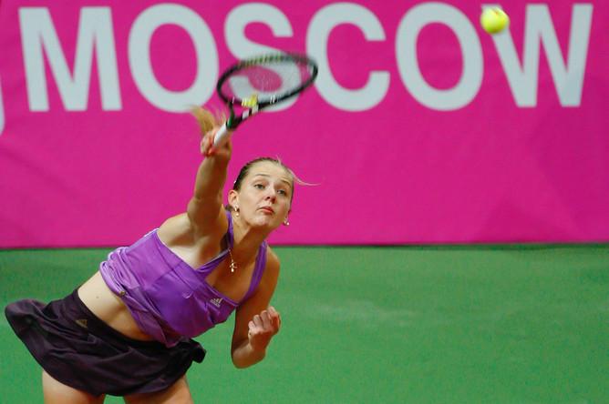 Анна Чакветадзе в матче Кубка Федерации по теннису между женскими сборными России и Италии, 2007 год