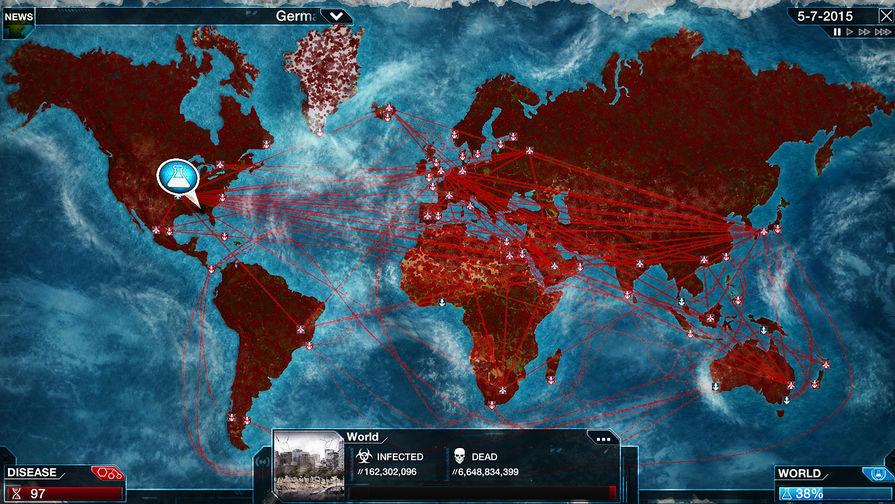 Скриншот из компьютерной игры Plague Inc.