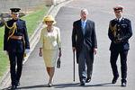 Бывший премьер-министр сэр Джон Мейджор сженой Дэм Нормой насвадьбе принца Гарри и Меган Маркл вВиндзоре, 19 мая 2018 года