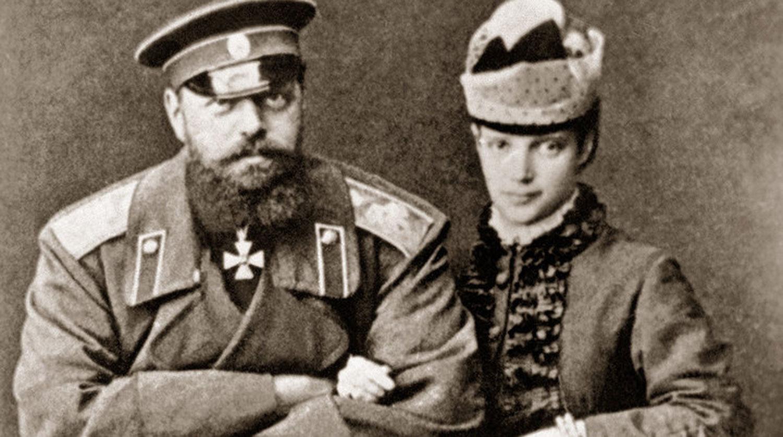 Император Александр III с супругой, Императрицей Марией Федоровной