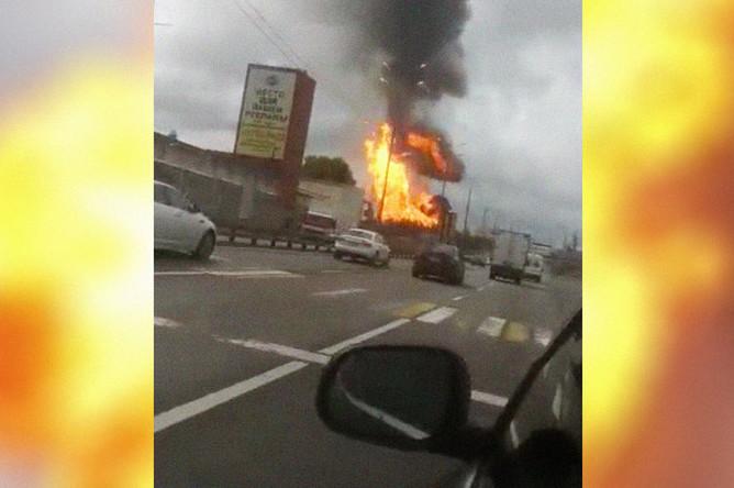 Возгорание на Северной ТЭЦ в Мытищах, 11 июля 2019 года. Кадр из видео