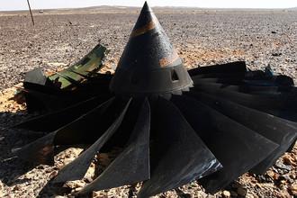 На месте крушения российского самолета Airbus A321 в Египте
