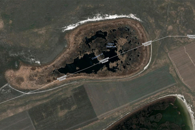 Спутниковый снимок озера Сладкое