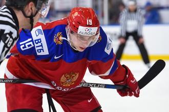 Хоккеист молодежной сборной России на МЧМ-2018