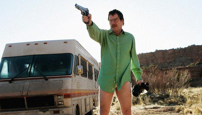Брайан Крэнстон в кадре из сериала «Во все тяжкие»