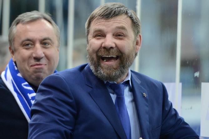 Олег Знарок пребывал в отличном расположении духа перед игрой