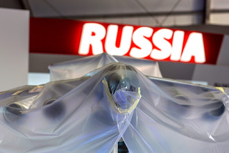 Модель самолета ПГ «Антонов» на международном авиасалоне «Фарнборо-2014»