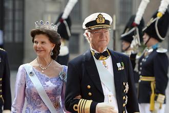 Шведский король Карл Густав и королева Сильвия