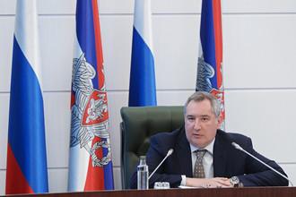 Заместитель председателя правительства РФ Дмитрий Рогозин на расширенном заседании коллегии Военно-промышленной комиссии в Национальном центре управления обороной России в Москве