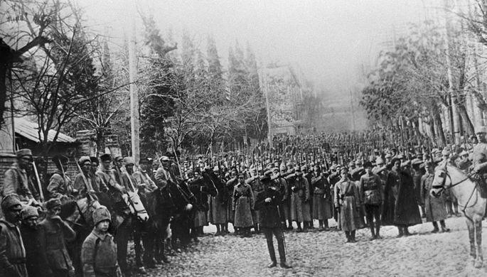 Бойцы Красной Армии вступают в Тифлис, 1921 год