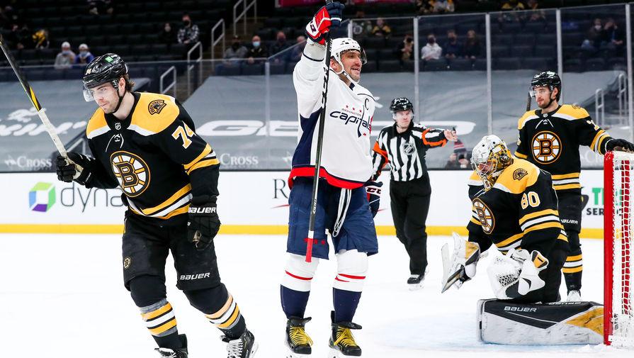 Российский нападающий «Вашингтон Кэпиталз» Александр Овечкин в матче НХЛ
