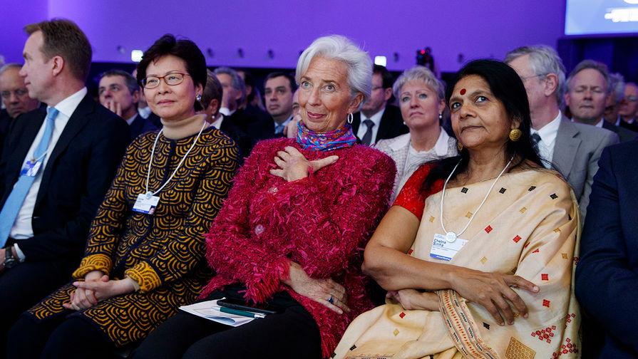 Глава Всемирного валютного фонда Кристин Лагард на Всемирном экономическом форуме в Давосе, 26...