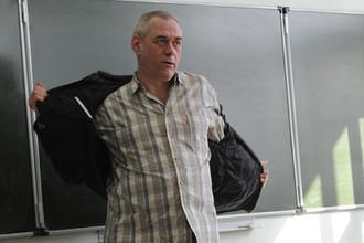 Журналист Сергей Доренко во время встречи со студентами МГУ, 2009 год
