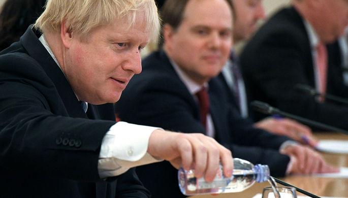 Министр иностранных дел Великобритании Борис Джонсон во время встречи с министром иностранных дел...