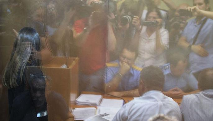 Ангелина Хачатурян в Басманном суде Москвы, июнь 2019 года