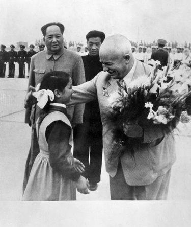 Мао Дзедун и Никита Хрущев, 1958 год