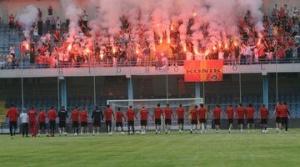 Фанаты зажгли файеры на тренировке черногорской сборной