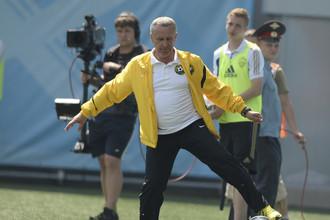 Леонид Кучук провел воскресенье на тренировочной базе «Локомотива»