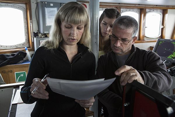 Капитан Ризотти на Arctic Sunriseв августе 2013 в Карском море