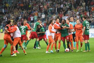 Финальный матч Кубка России по футболу — 2016/17 в Сочи был омрачен массовой дракой игроков