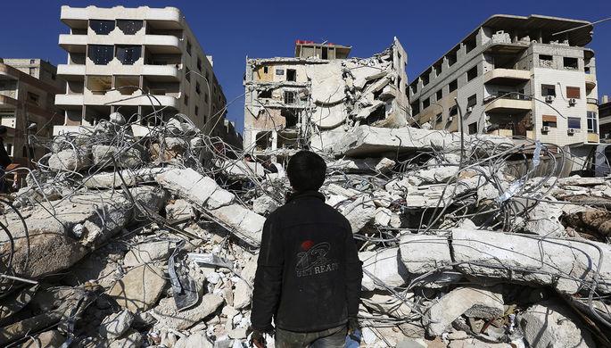 В одном из районе Дамаска, Сирия, 2015 год
