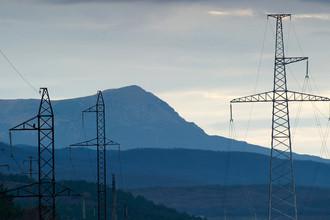 Линии электропередач в Крыму