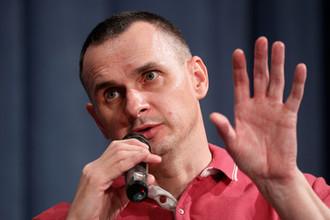 Режиссер Олег Сенцов во время пресс-конференции в Киеве, сентябрь 2019 года
