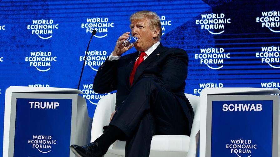 Президент США Дональд Трамп на Всемирном экономическом форуме в Давосе, 26 января 2018
