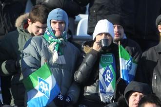 Болельщики «Крыльев Советов» на матче с ЦСКА