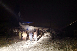 Транспортный самолет Ан-12 разбился при посадке на аэродроме Иркутск-2