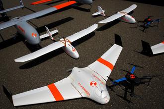 Испытания беспилотных воздушных транспортных средств на военно-морской базе Вентура-Каунти в США