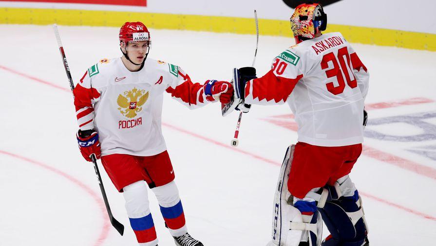 Российские хоккеисты Василий Подколзин и Ярослав Аскаров